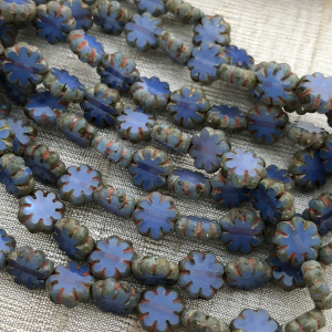 9mm Cactus Flower Cornflower with Picasso Finish