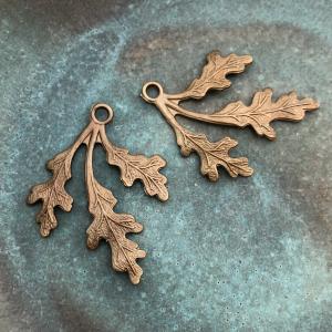 Oak Frond - Brass 31.5 x 26mm