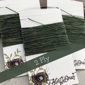 2 Ply Irish Waxed Linen - Dark Emerald Green