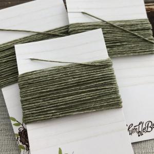 4 Ply Irish Waxed Linen - Olive