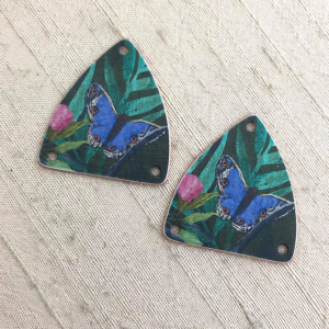 Wild Bird Shield Earring Charms
