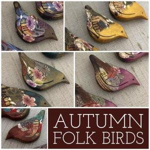 Autumn Folk Forest Bird