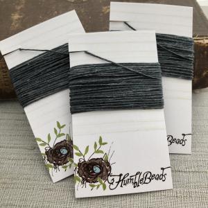 4 Ply Irish Waxed Linen - Charcoal Grey