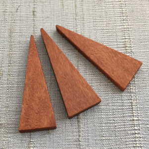 Triangle Trio - Wood Pendants 40 x 14mm
