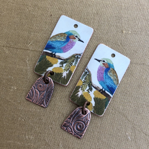 Lilac Breasted Roller Earring Charms