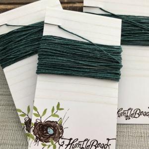 4 Ply Irish Waxed Linen - Dark Forest Green