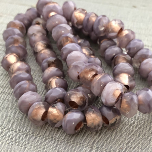 6x9mm Large Hole Roller Bead Thistle with Copper Lining