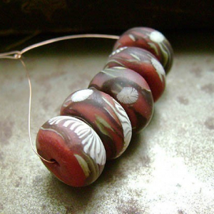 Copper Branches Disk Beads