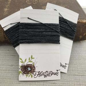 4 Ply Irish Waxed Linen - Black