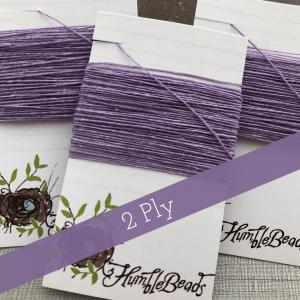 2 Ply Irish Waxed Linen - Lavender