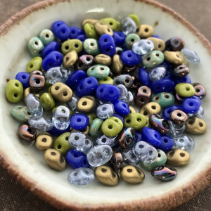 Blue Belles Mix Superduo 2.5x5mm Seed Bead