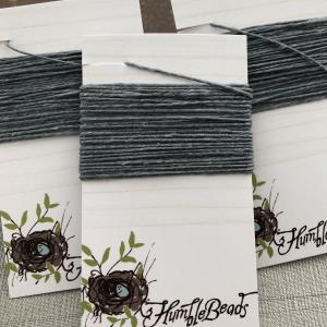 4 Ply Irish Waxed Linen - Slate Grey