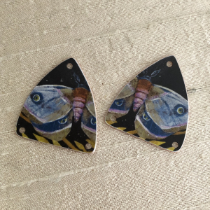 Purple Moth Earring Charms