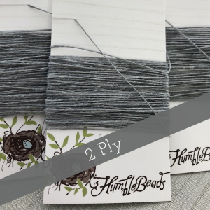 2 Ply Irish Waxed Linen - Slate Grey