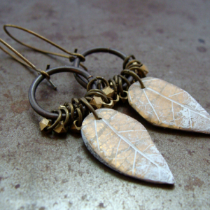 Frosted Leaf Earrings