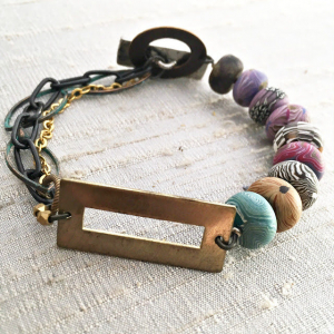 Moving Forward Disk Bead Bracelet