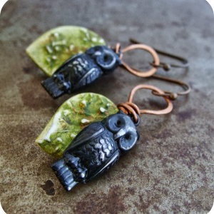 Harvest Owl Earrings