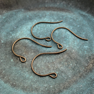 Brass Earwire 27 x 15mm 2 Pairs
