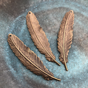 Feather - Solid Brass 53 x 12mm
