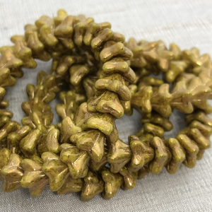 5x8mm Bell Flowers Dandelion with a Gold Wash
