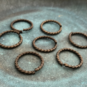 Large Brass Rope Jump Ring 17mm - 2