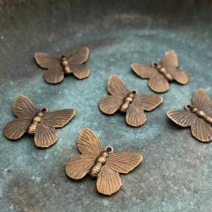 Brass Butterfly Charm - 2
