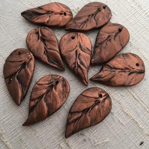 Copper Renaissance Leaf Pendant