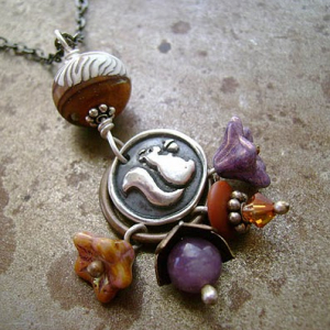 Squirrelin' Away Pendant