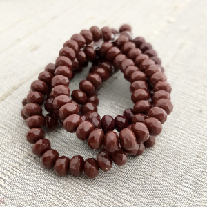5x3mm Rondelle Red Oxide