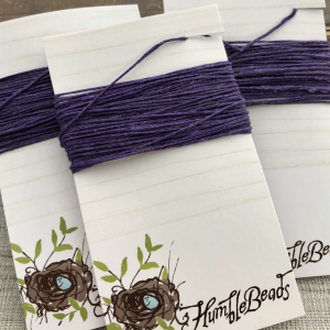 4 Ply Irish Waxed Linen - Plum