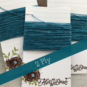 2 Ply Irish Waxed Linen - Teal