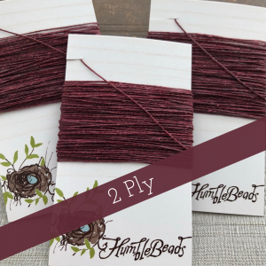 2 Ply Irish Waxed Linen - Maroon