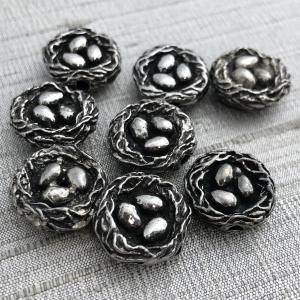 Artisan Nest Bead - Pewter