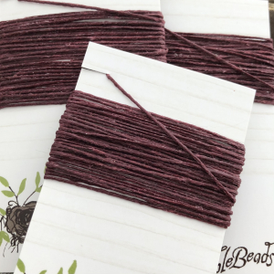 4 Ply Irish Waxed Linen - Maroon