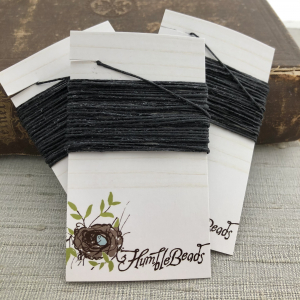 4 Ply Irish Waxed Linen - Black