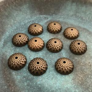 Brass Acorn Bead Caps - 2