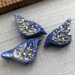 Willow Bird Bead: Blue